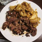Chicken Livers and Greek Potatoes