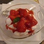 Tiramisú avec fraises