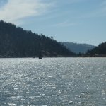 Big Bear Lake, with Pirate Ship in background