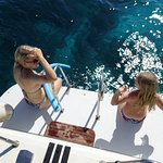 hotel's boat takes you to tiny nearby islands