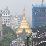View from terrace to Sule Pagoda