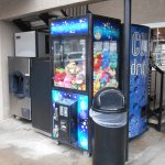 Tokens for free ice are at the front desk - The claw machine will cost you!
