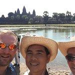 Angkor Wat with guide Sarak.