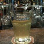 a pint of Hoegaarden