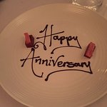 Delivered with our bill - such a lovely end to a wonderful meal!