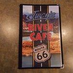 Juicy's Famous River Cafe, Needles CA. A full menu.