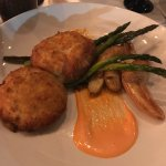 Crab cakes and creme brulee