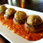 Our Signature Dish:  Alligator Stuffed Mushrooms w/ Alligator Sauce Piquant