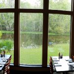 Bayou view dining at Restaurant des Familles