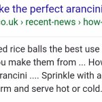 Arancini can be eaten hot and cold