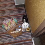trash food sitting in hallway multiple days