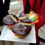 The Art of the Cupcake! Dark Side of The Moon cupcakes from Wanda's Pie in the Sky Vegetarian ba