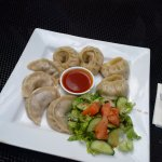 Momos (aka dumplings) from Tibet Cafe! Homemade down to the hotsauce! Delish!