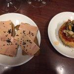 Foie with black volcanic salt