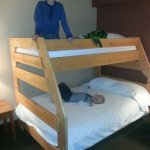 The new bunk beds in the larger suites.