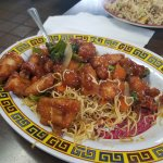 General Tso's with noodles instead of rice
