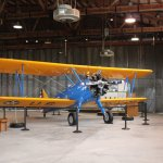 One of the airplanes located inside hanger 1