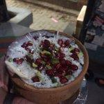 Pomegranate and coconut