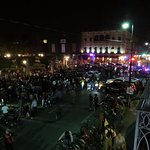 When we returned the street had a auto show on it. Was Mardi Gras week
