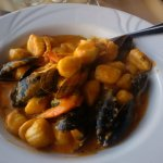 Gnocchi with mussels, shrimp, scallops and calamari