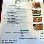 noodles & fried rice menu page