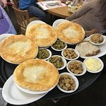 chicken pot pies and the chicken fried steak. LOTS of food
