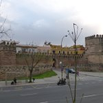 Muralla de la ciudad, a pasos de la Basílica de Esperanza Macarena