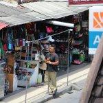 Stall vendor from restaurant table