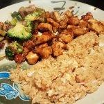 Hibachi Chicken w/ mixed vegt. & Fried rice