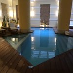 Indoor pool at the spa