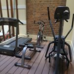 Exercise room near the pool