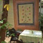 Attractive artwork at Naturellement Garden Cafe