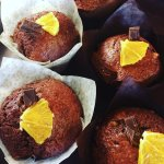 Get one of these delicious Jaffa muffins! Totally vegan