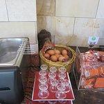 Petit déjeuner oeufs à la coque