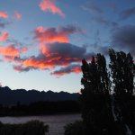 Sunrise over The Remarkables from our room