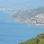 View of Seacliff Bridge from Orford Lookout