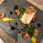 Pan seared halibut