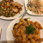 Best honey chicken and combination vegetables with nuts