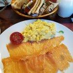Local salmon & scrambled eggs
