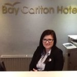 The lovely Pauline at the Bay Carlton Hotel. Great Yarmouth.