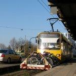 Zahnradbahn bei der Ankunft in Degerloch