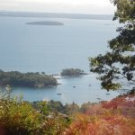You can see lovely little inlets and bays from atop Mt. Battie