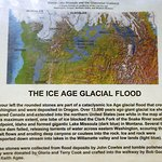 A large sign explaining about the Missoula Flood