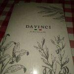 Menu at Italian restaurant