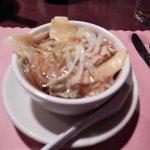 Wanton soup - or rather wanton-flavoured lettuce soup!