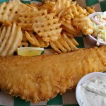 Fish and chips platter, GOOD!