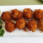 Crab shrimp potato tots, really good!!
