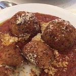 Arancini~ delicious, flavored with house made sausages