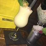 pina colada's and cherry libre's at chiquitos, excellent drinks and served by their amazing bart