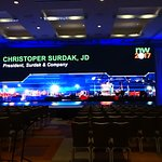 Grand Ballroom, we installed a 15' x 40' wide LED wall in this space.
